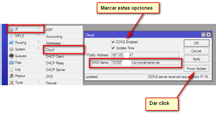 Activar Ip Cloud en mikrotik