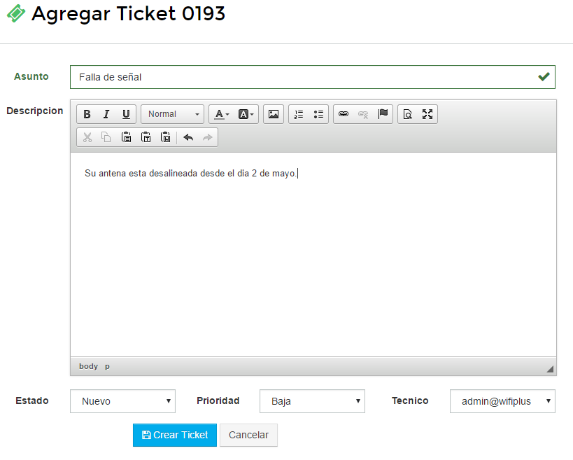 Crear ticket paso 2 - wisphub