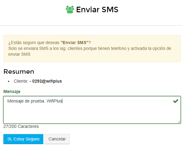 SMS Clients Wisphub