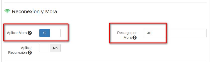 Activar Mora