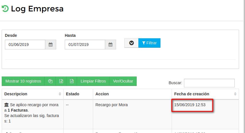 Log Mora Aplicada
