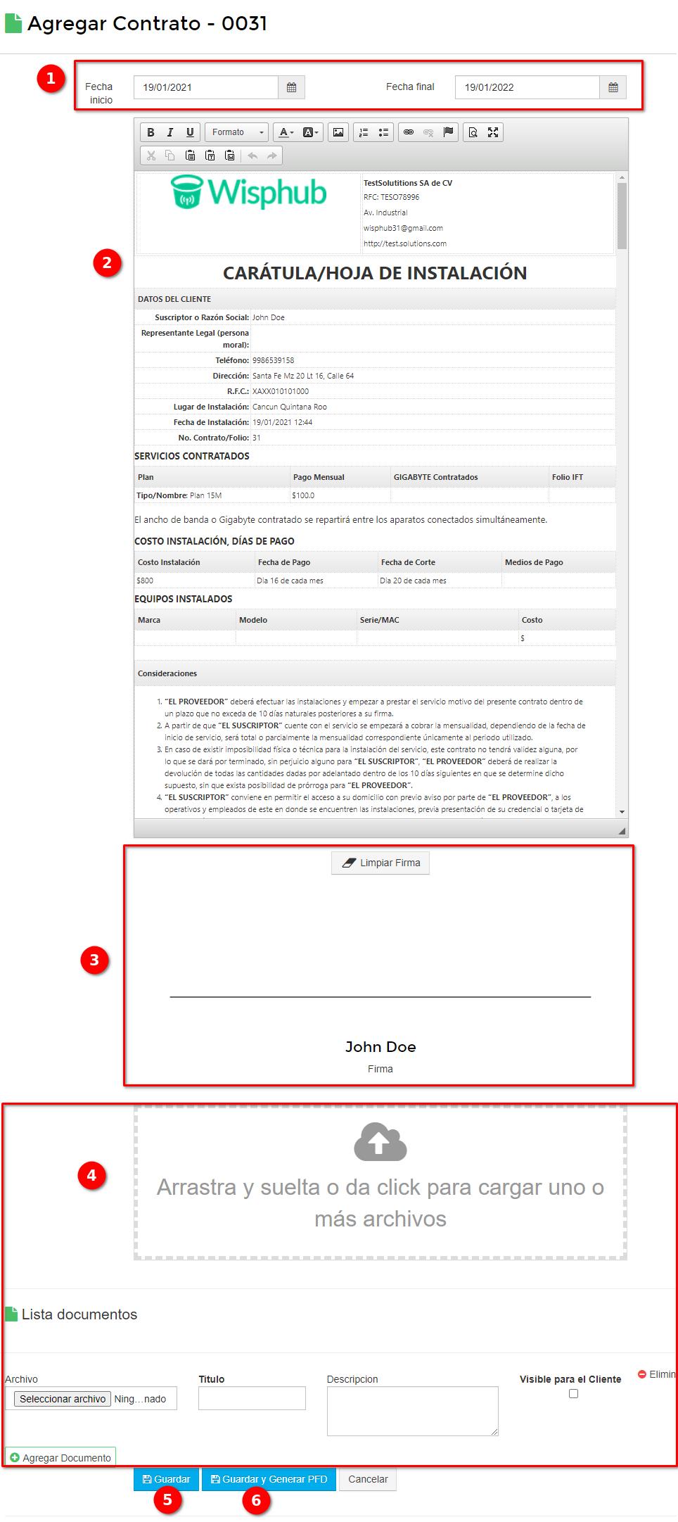 Informacón Contrato